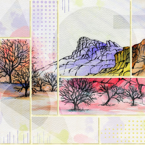 Fall Mountain Abstract