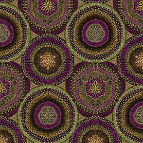 Kaleidoscope Medallions with Dark Magenta