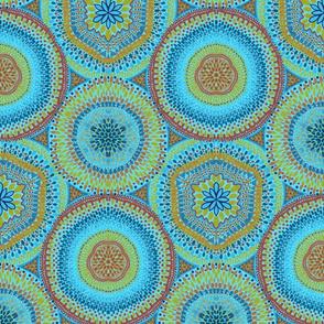 Kaleidoscope Medallions Caribbean Blue