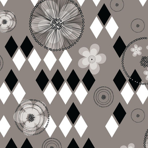 Abstract Black White Gray