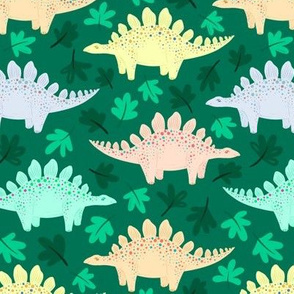 Stegosaurus forest