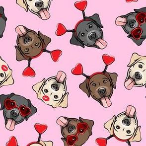 Valentine's Day Labrador retrievers - labs pink - LAD19