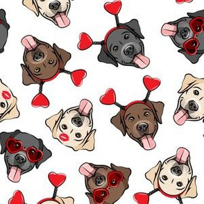 Valentine's Day Labrador retrievers - labs  - LAD19