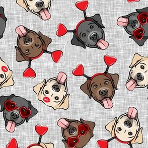 Valentine's Day Labrador retrievers - labs grey - LAD19