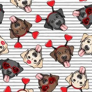 Valentine's Day Labrador retrievers - labs grey stripes - LAD19