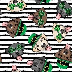St. Patrick's Day Labrador Retrievers - labs black stripes - LAD19