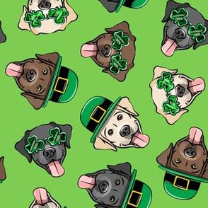 St. Patrick's Day Labrador Retrievers - labs green - LAD19