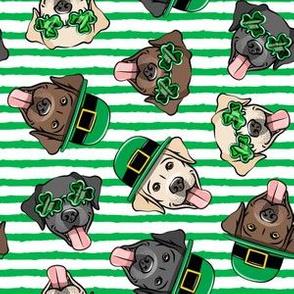 St. Patrick's Day Labrador retrievers - labs green stripes - LAD19