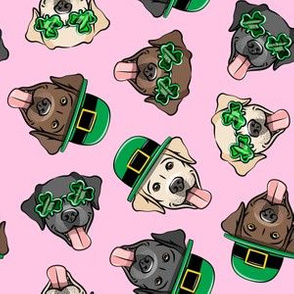 St. Patrick's Day Labrador retrievers - labs pink - LAD19