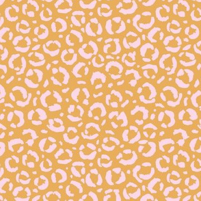 Leopard love animal print surface pattern art licensing abstract minimal summer honey yellow pink