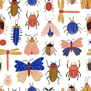 Colorful cute insects