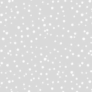 Irregular dots let is snow flakes and spots abstract basic trend minimal print soft gray