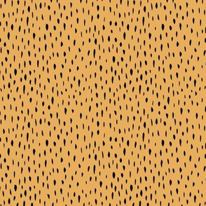 Little grizzly bear hairy monster fur animal print design yellow