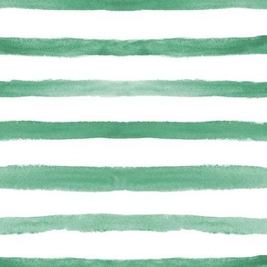 Emerald watercolor stripes ★ soft minimal stripes for modern home decor, bedding, nursery