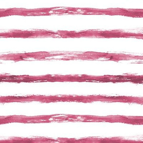 Burgundy watercolor stripes ★ painted grungy horizontal stripes for modern home decor, bedding, nursery
