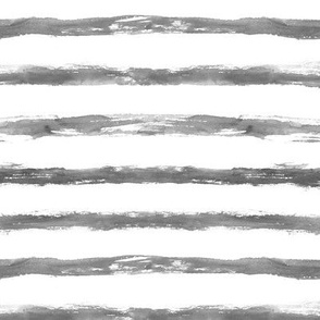 Silver painted stripes ★ grungy grey watercolor horizontal stripes for modern home decor, bedding, nursery in neutral shades