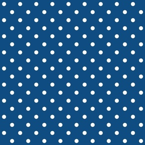 2020 classic blue polka dots - pantone color of the year