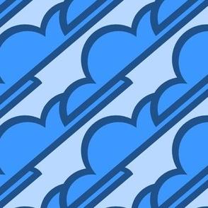 Classic Blue Stylized Clouds Pantone 2020