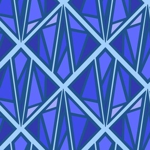 Classic Blue Stained Glass Diamond Pantone 2020