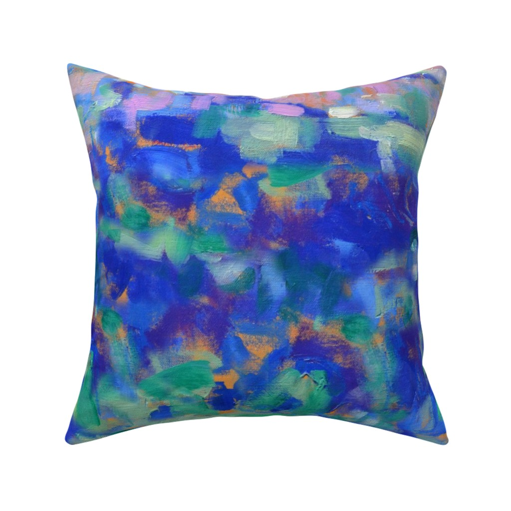 Catalan Throw Pillow featuring Cobalt Blue Dreams by dorothyfaganartist