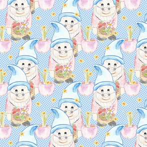 Kitschy Gnomes - Pastel Pink & Blue