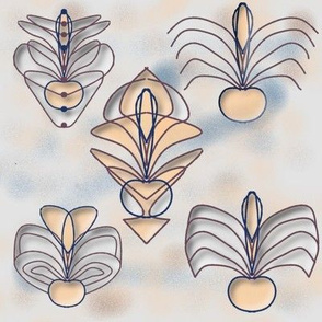 Art nouveau wallpaper the bugs dance 3D by Kaorina