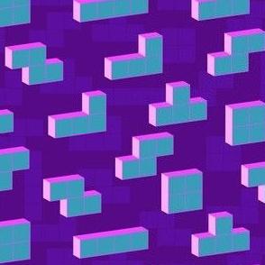Tetris blocks neon - Play a game - Geometric pattern