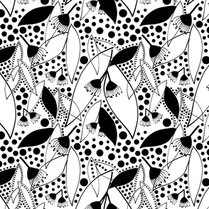Shirley's Australiana Quilt - black on white, medium/large