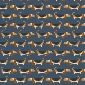 Basset Hound navy land medium scale