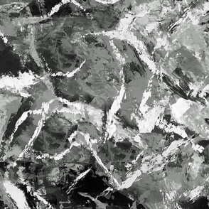 Abstract Art Black and White Textures