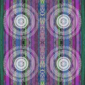 "Blue and Gray Boho Patchwork 6"""