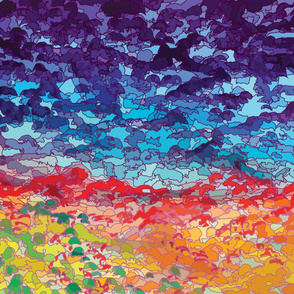 Abstract Landscape Painting by ArtfulFreddy