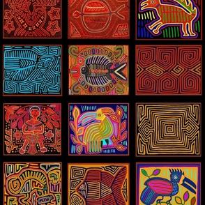 Panama Kuna Indian Collage - Large Scale