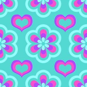 Flower Power Mosaic Teal