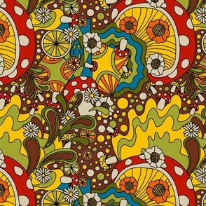 70s psychedelic kitchen