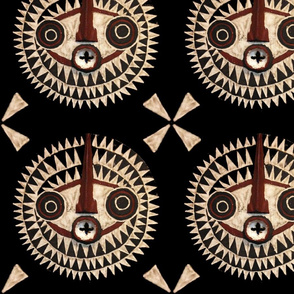 African Tribal Mask Quilt - 24x24