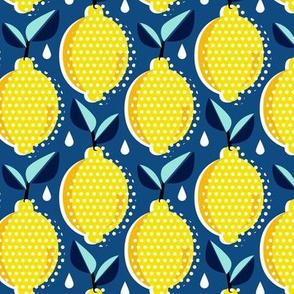 Lemon Fresh - Classic Blue Regular Scale Pop Art Summer Fruit