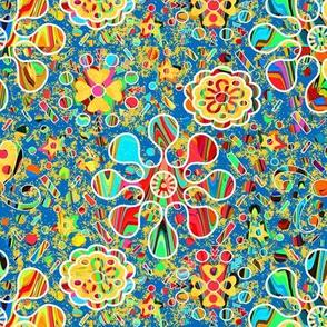 Kaleidoscope Confetti Blue