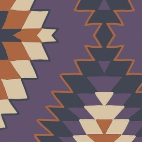 Woven Purple Aztec