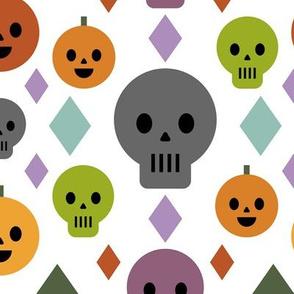 Pumpkins & Skulls