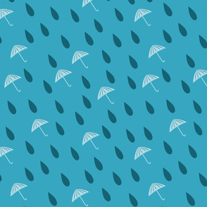 Random Raindrops and umbrella