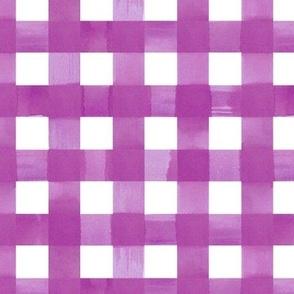 Lilac purple  gingham watercolour check pattern