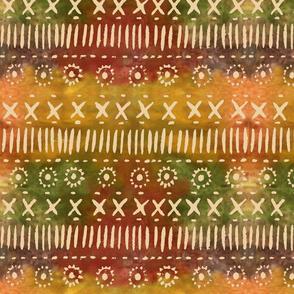 Caribbean tapa stamp-gold
