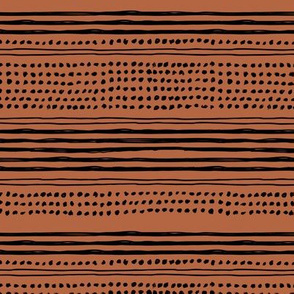 Minimal mudcloth bohemian mayan abstract indian summer aztec design rust copper