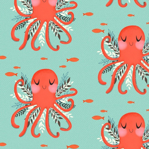 Octopus and Florals