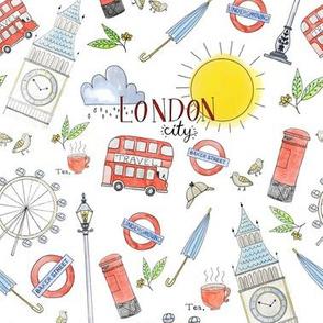 London City pencil drawings