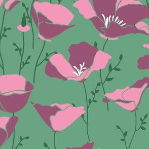 Poppies_light-green
