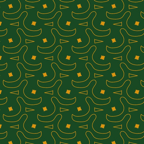 twisted labyrinth green background by Kaorina