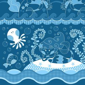 meramaids blue doodle