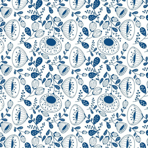 Blue Florals